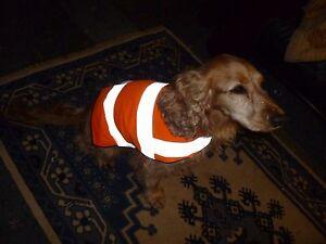 Light weight Hi Vis Viz Orange Reflective Safety Dog Coat XS,S,M,L,XL to measure