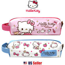 Sanrio Hello Kitty Pencil Case Multi-purpose Pouch with Hanger : Pink or Blue