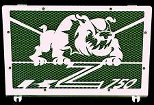 cache / Grille de radiateur inox poli Kawasaki Z750 04>06 Bulldog + grill vert