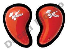 Knee Sliders Pair set Red MotoGP Moto GP Race Track Day Armour NEW puck racing