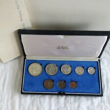 SOUTH AFRICA 1975 8 COIN PROOF YEAR SET WITH SILVER 1 RAND - SAM BOX