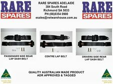 Holden EJ EH HD HR Sedan Wagon Rear Seat Belt Set of 3 Non Retractable