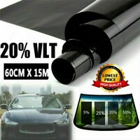 """WINDOW FILM TINT TITANIUM HP 2 PLY BLACK SILVER 10/% 20/"""" X 5 FT MADE IN USA"""