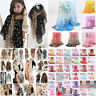 Women Fashion Long Soft Chiffon Flower Scarf Sheer Wrap Neck Shawl Stole Glitzy