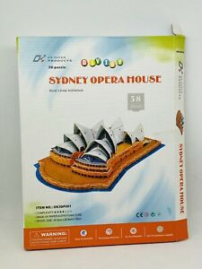 Sydney Opera House 58pc 3D Architecture Model DIY Puzzle Hobby Building Kit Toy