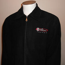 Planet Hollywood London Coat Large Jacket Planet 2000 Zip Up Zipper Cotton Black