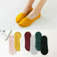 5 Pairs Womens Invisible No Show Nonslip Loafer Boat Ankle Low Cut Cotton Socks