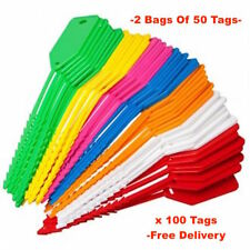 Kevron Econotag Id90 - Kid90ass -50 Mixed Plastic Write on Key Tags- Post