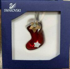 Swarovski Crystal Twinkling Stocking Christmas Ornament Mint In Box 1054568