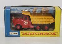 MATCHBOX LESNEY VINTAGE King Size Tipper Truck Original K-19 in Box
