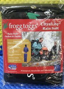Frogg Toggs Mens UltraLite2 Rain Suit w/ Storage Bag Blue UL12104-12 CHOOSE SIZE