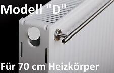 """""""D"""" Handtuchhalter für 70 cm Heizkörper mit Magnethalterung  Edelstahl Heizung"""