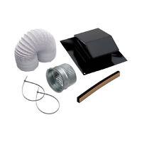 Broan Black Metal Laminate Flexible Duct Roof Vent Kit Bathroom Fan Parts