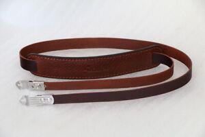 Genuine Leather Neck Shoulder Strap w/ Pad For Rolleiflex 2.8C 2.8D TLR Camera