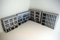 1/76 Card OO Gauge Pack of 4 Office Buildings for Model Railways (Set 005)