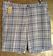 Haggar Cool 18 Classic-Fit Flat-Front  Plaid Shorts..Size 38