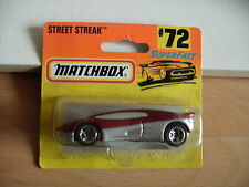 Matchbox Street Streak in Red/Grey on Blister