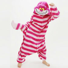 Hot Fancy Dress Cosplay Onesie1 Adult Unisex Hooded Pyjamas Animal Sleepwear UK Small Cheshire Cat