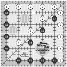 "Creative Grids 5 1/2"" Square Ruler Sewing and Quilting Ruler"