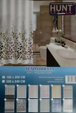 Shower Curtain with Rings IN Polyester HUNT CMS 200X240