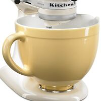 New KitchenAid KSMCB5MY 5-qt Ceramic Mixing Bowl Attachment Majestic Yellow