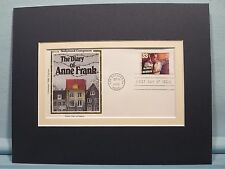 The Diary of Anne Frank  and the First Day Cover honoring Alfred Newman