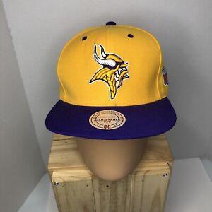 Mitchell & Ness Adjustable Fit Snapback Minnesota Vikings NFL Hat New w/ tags