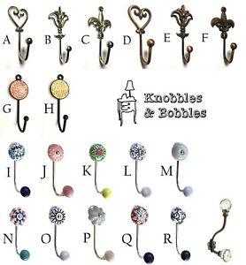 Metal silver or bronze hook, copper hook, gold hook, coat hook, rose gold
