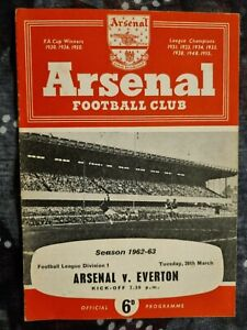 1962/63 ARSENAL v EVERTON - 29th March 1963