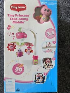 Tiny Love Pink Multi-Colored Musical Baby Crib Mobile Soother Toy-Easy Install!
