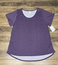 LuLaRoe 3XL CLASSIC T Shirt Purple and Lilac Print NWT