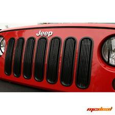 Rugged Ridge 07-15 Jeep Wrangler JK Black Aluminum Billet Grill Inserts 11401.30