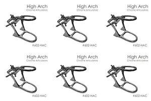 Dental Lab Set of 6 Dental Articulator High Arch Chrome Articulator