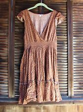 Candie's Brown Country Floral Women's Casual Dress Juniors XL Pullover Ruffle