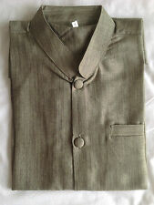 camisa CUELLO MAO VERDE 100 % ALGODÓN SEDA manga corta Hombre angkor Camboya