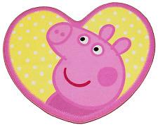PEPPA Pig Oink a forma di cuore TAPPETO MAT CARPET Ragazza Bambini Carattere Camera da Letto
