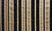 "Chenille Black Stripe Upholstery Drapery fabric by the yard 57"" Wide"