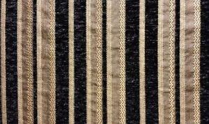 Chenille Black Stripe SAMPLE FABRIC ONLY