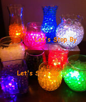 100g Water Pearl Bead + 12 LED Submersible Wedding Table Centerpiece Vase Light