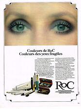 PUBLICITE ADVERTISING 024   1978   ROC   cosmétiques des yeux