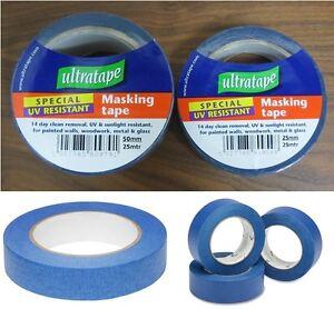 Ultratape - UV Resistant Blue Painters Masking Tape - Various Sizes 6,12,24 Roll