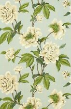 COLEFAX AND FOWLER CURTAIN FABRIC DESIGN Giselle 1.4 METRES AQUA 100% LINEN