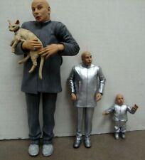 Austin Powers Dr. Evil And Mini Me Action Figures Lot Of 3