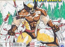 WOLVERINE #1 VARIANT WOLVERINE DOUBLE PAGE Marvin Law SKETCH COA