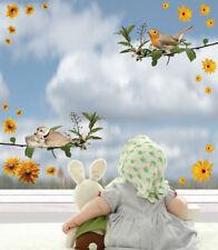 Aufkleber Sticker Wandaufkleber Wandsticker Dekor Vögel Blumen Vogel Küche Möbel