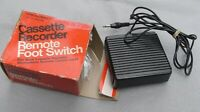 REALISTIC 40-610 CASSETTE RECORDER REMOTE FOOT SWITCH UNUSED AND IN EX CONDITION