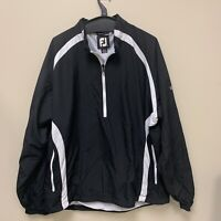 FOOTJOY Pullover Windbreaker Track Golf Jacket Quarter-Zip Mens Size XL