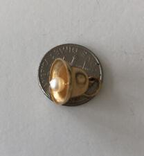 Vintage 14 K Yellow Gold Bell w/ Pearl  Charm Pendant Hallmarked M&M 14k 1.2gr