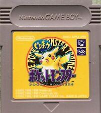 SAVE OK* Pokemon YELLOW Game Boy Gameboy Pocket Monsters GB GBA GBC JAPAN Import