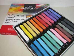 24 Stück Pastellkreide Pastellfarben weich OVP